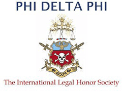Logo Recognizing MEG International Counsel, PC's affiliation with Phi Delta Phi: The International Legal Honor Society