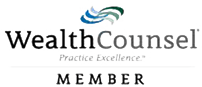 Logo Recognizing MEG International Counsel, PC's affiliation with Wealth Counsel